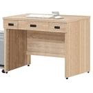 書桌 電腦桌 AT-229-5 法蘭克4尺三抽書桌 (不含其它產品)  【大眾家居舘】
