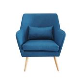【JUSTBUY】納卡北歐原創單人沙發椅(附同色靠枕)瑞典藍
