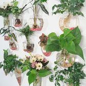 創意水培玻璃花瓶懸掛式透明插花盆綠蘿壁掛小魚缸簡約現代小花瓶【店慶滿月好康八折】