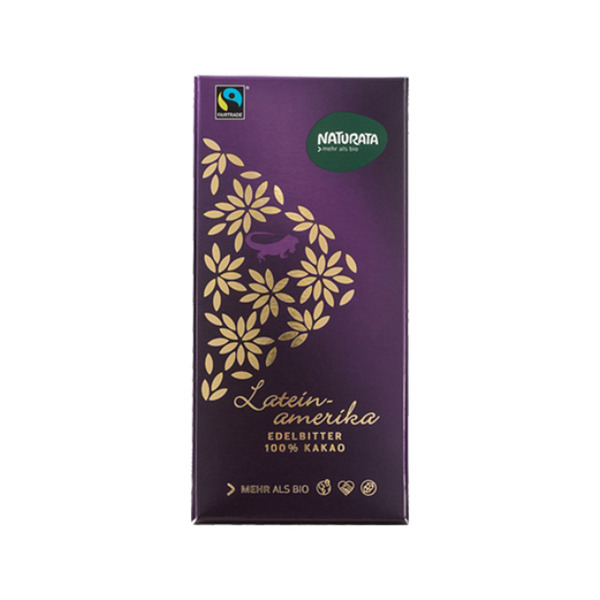 [Naturata] 拉丁美洲100%有機頂級黑巧克力(80g/片)