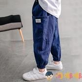 男童長褲兒童工裝褲洋氣寬鬆春秋款長褲哈倫褲【淘嘟嘟】