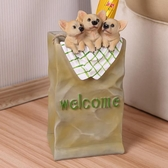 創意酒店家用雨傘架店鋪門廳收納雨傘架子落地式放傘桶樹脂狗擺件 陽光好物