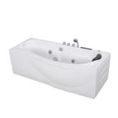 弧形浴缸家用成人壓克力浴盆嵌入式衛生間情侶沖浪按摩坐式小戶型
