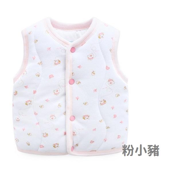 寶寶背心 鋪棉加厚 粉色系 保暖嬰兒背心 女寶寶 棉質背心 LW10906 秋冬童裝
