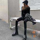 破洞牛仔褲女高腰顯瘦氣質小腳褲子秋季緊身【橘社小鎮】