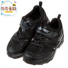 《布布童鞋》Moonstar日本黑色3E寬楦兒童機能運動鞋(19~22公分) [ I8I016D ]