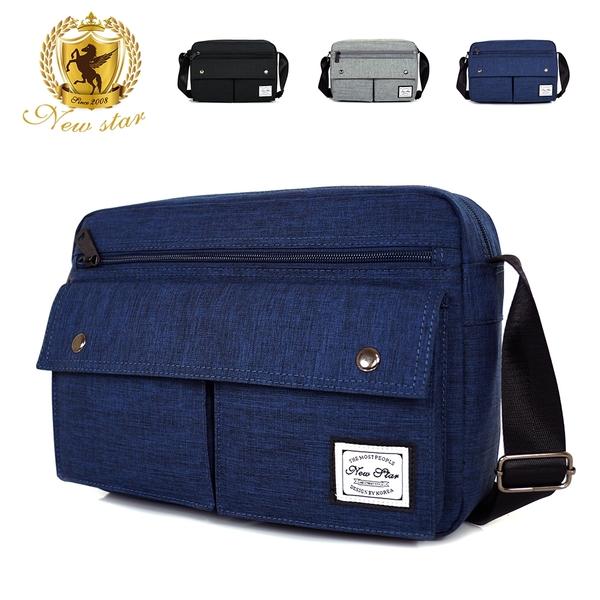 斜背包 日系多口袋側背包包 A4稍折可 男 女 男包 現貨 NEW STAR BL158