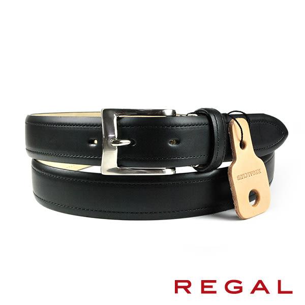 【REGAL】質感紳士皮帶 黑色(ZR040-BL)