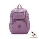 B.S.D.S冰山袋鼠 - 時光旅人 - 知性大容量附插袋後背包 - 深芋紫【B060-2U】