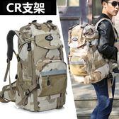 新款休閒雙肩包日韓男女戶外旅行背包45L60L多功能超大容量登山包 【PINKQ】