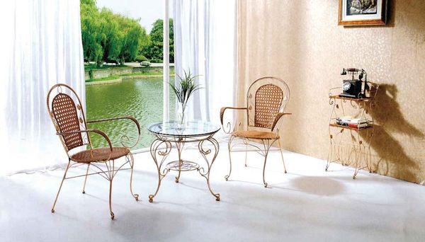 【 IS空間美學】B56T鐵藤休閒圓桌+A01鐵藤休閒椅 (一桌二椅)