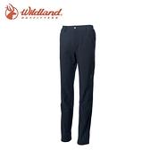 【Wildland 荒野 女彈性輕三層防風保暖長褲《黑》】0A62303/戶外/登山/健行