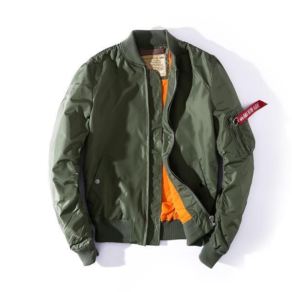 春秋季薄潮空軍MA-1飛行員夾克復古男女裝情侶大碼學生棒球服外套 卡米優品