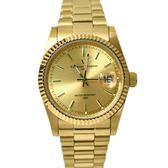 valentino coupeau羅馬數字貝面金手錶NEV76