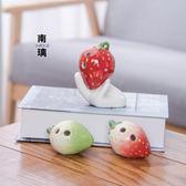 學生入門中音C調表演樂器卡通水果款蘋果西瓜桃子草莓6孔陶笛 qf1290【黑色妹妹】