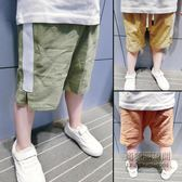 ✡老闆定錯價✡ 男童韓版五分褲寶寶棉麻短褲小兒童褲子1235歲潮