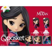 日本限定 Qposket  迪士尼 花木蘭 Girlish Charm 魅力女孩 模型公仔 (一般色 OR 蠟筆色)