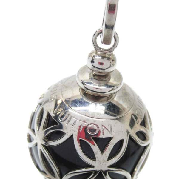 LOUIS VUITTON LV 路易威登 銀x黑色球球吊飾 鑰匙圈 Ice Ball Bag Charm【BRAND OFF】