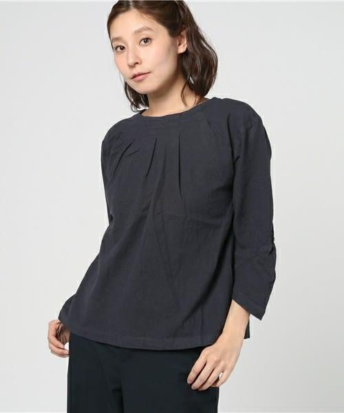 ❖ Hot item ❖ 素面打摺圓領寬版上衣  (提醒➯SM2僅單一尺寸) - Sm2