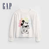 Gap女童 Gap x Disney 迪士尼系列印花休閒上衣 682693-白色