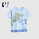 Gap男幼童 純棉創意口袋短袖T恤 687934-藍色