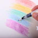 【BlueCat】兒童彩繪儲水用尖頭水彩筆 毛筆 塗鴉彩繪 (15.5cm)