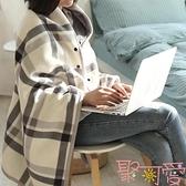 小毯子加厚冬季單人辦公室午睡毯子【聚可愛】