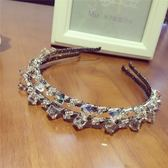 鑲鑽髮圈(任兩件)-極光炫彩方糖設計女髮箍5款73gi3【時尚巴黎】