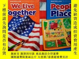 二手書博民逛書店MACMILLAN McGRAW-HILL罕見【People and Places,We Live Togethe