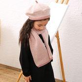 兒童帽 帽子圍巾套裝冬季兒童女韓版毛線針織不加絨貝雷帽女童保暖圍脖潮【韓國時尚週】