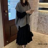大碼連身裙減齡顯瘦毛衣兩件套裝秋冬【時尚大衣櫥】