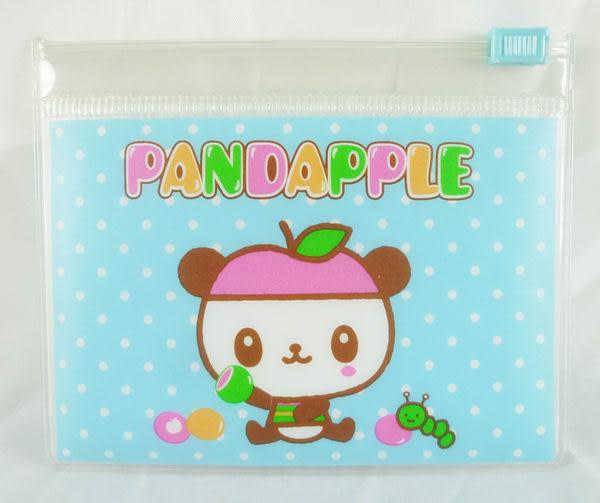 【震撼精品百貨】Pandapple Sanrio 蘋果熊貓~卡片夾鍊袋收納袋