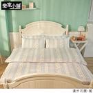 床包 / 雙人-【漫步花園 藍】含兩件枕套,雪紡紗磨毛多工法處理,戀家小舖台灣製S01-AAF201