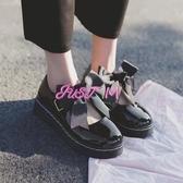 娃娃鞋女日系洛麗塔lolita厚底女鞋可愛蝴蝶結圓頭娃娃鞋原宿平底軟妹皮鞋 交換禮物