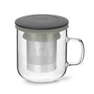 丹麥泡茶玻璃杯350ml 2.0(黑+灰)