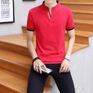 男短袖t恤韓版polo衫夏季打底衫男士體恤潮流寬鬆翻領男裝上衣服 LR20661『麗人雅苑』