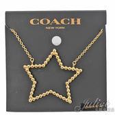 茱麗葉精品【全新現貨】COACH 37962 超大金珠星星造型時尚項鍊