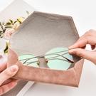 眼鏡盒便攜防壓簡約復古文藝太陽眼睛收納盒原宿墨鏡盒【古怪舍】