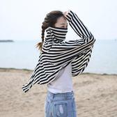 開車騎車防曬口罩莫代爾女士遮陽防紫外線夏季長袖披肩女面罩一體·Ifashion