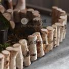白樺木小柵欄花盆圍欄室內花園庭院裝飾小籬笆造景小擺件【君來佳選】