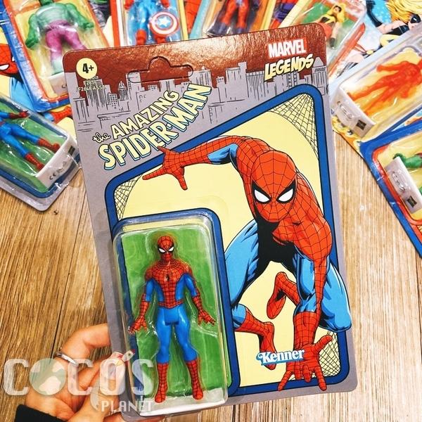 正版 Marvel Legends 漫威 經典復古吊卡 3.75吋 可動 公仔 收藏 蜘蛛人款 COCOS FG680