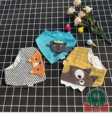 嬰兒口水巾純棉圍嘴圍兜新生兒童圍巾寶寶三角巾【聚可爱】