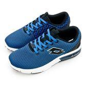 LIKA夢 LOTTO 緩震氣墊慢跑鞋 ARIA CHINO 系列 藍黑白 6586 男