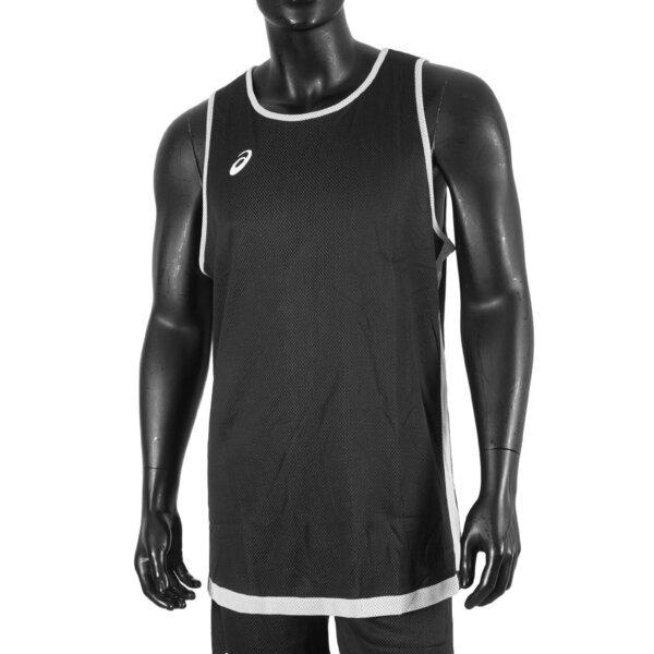 Asics Apparels [2063A255-100] 男 籃球背心 訓練 運動 吸濕 快乾 輕量 舒適 雙面 黑