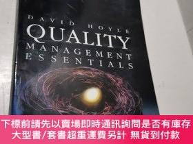 二手書博民逛書店Quality罕見Management EssentialsY491376 Hoyle