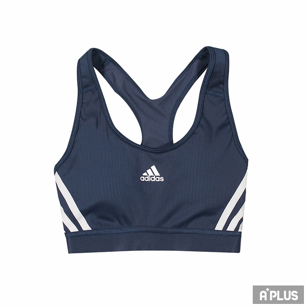 ADIDAS 女 運動內衣 BT 3S RIB BRA 藍 有氧 韻律 -GM2963