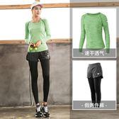 大碼運動套裝女胖mm200斤秋季健身房寬鬆瑜伽服速干衣晨跑跑步服