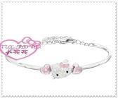 ♥小花花日本精品♥ Hello Kitty 施華洛世奇SWAROVSKI 手鐲 手環手鍊 飾品 大臉愛心 情人節