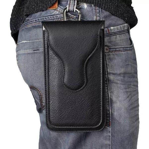 萬聖節優惠-男士皮套手機腰豎款商務潮包
