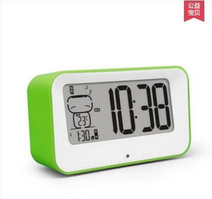 創意電子鬧鐘床頭靜音時鐘錶LED夜光智能多功能